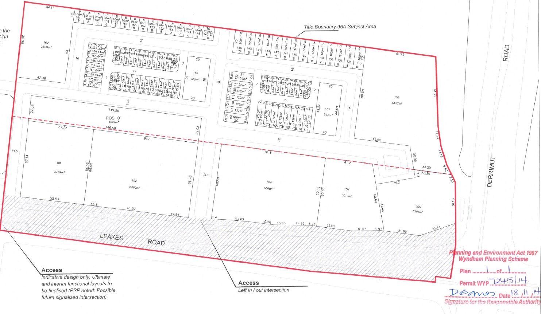 Stamped subdivision plan