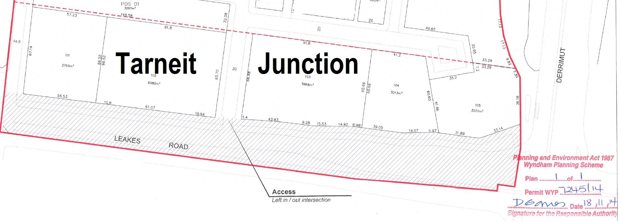 575 Stamped subdivision plan